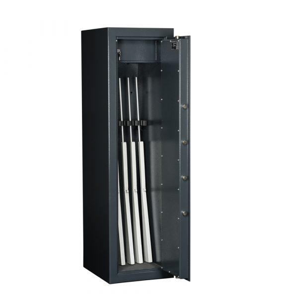 Coffre-fort anti-feu pour 5 armes - classe de sécurité S2 - Mustang Safes