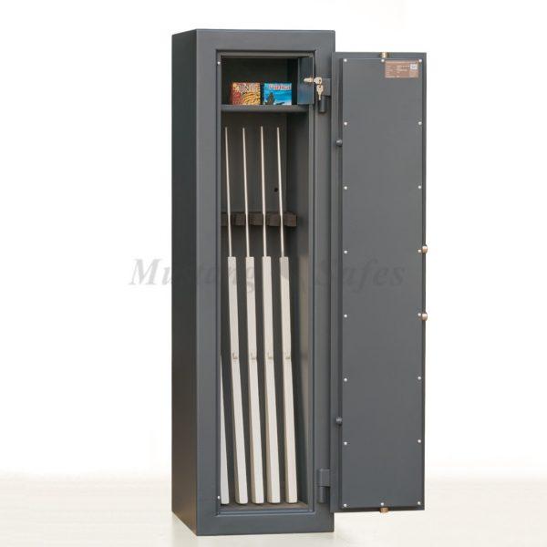 Coffre-fort anti-feu pour 5 armes - classe de sécurité S2 - (réf. MSG 10-5 S2)