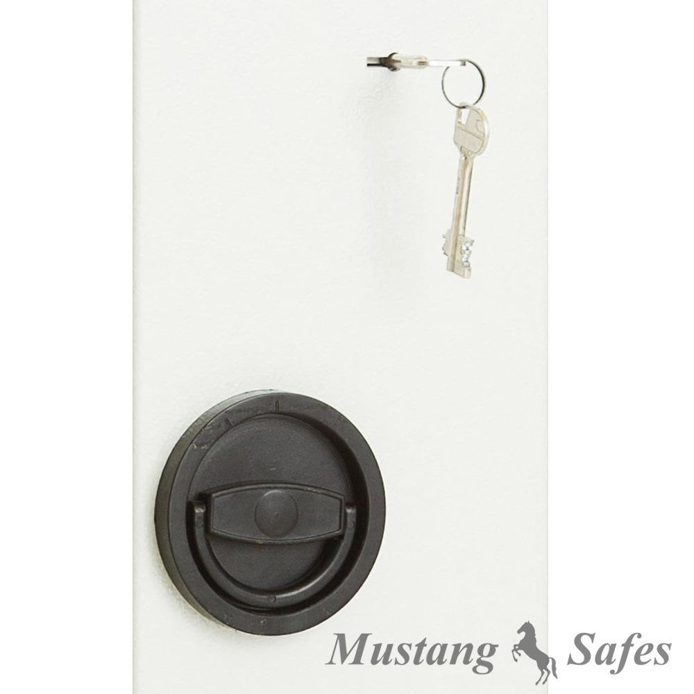 Serrure à clé à double panneton MS-S-001
