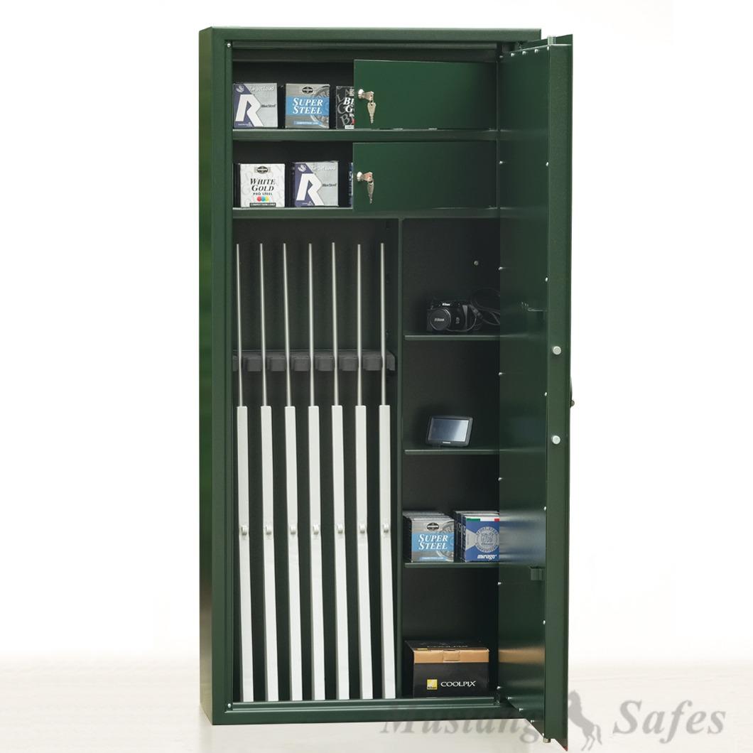 Coffre-fort Mustang Safes pour 8 armes (réf. MSG 7-20 S1)
