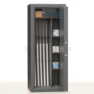 Coffre-fort ignifuge pour 5 armes et étagères Mustang Safes MSG 20-5 S2