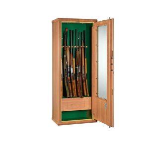 Armoire forte avec porte vitrée pour 10 armes – MS Scrigno - Mustang Safes