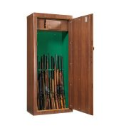 Armoire à fusils couleur bois - MS Scudo 1908545 - Spéciale canons très longs - Mustang Safes