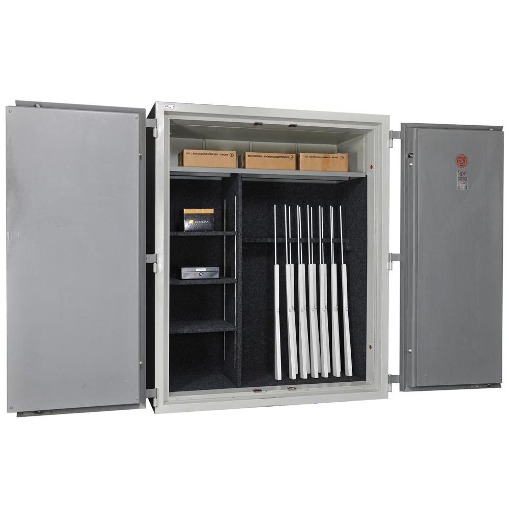 Grande armoire forte pour fusils avec rangement Lips - Occ 1533 - Mustang Safes
