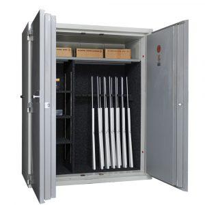 Grande armoire forte pour fusils avec rangement Lips – Occ 1533 - Mustang Safes